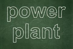 Industry concept: Power Plant on chalkboard background. Industry concept: text Power Plant on Green chalkboard background royalty free illustration