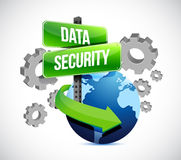 Industry data security around the globe. Illustration design over a white background Royalty Free Stock Photo