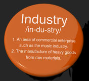 Industry Definition Button Showing Engineering Construction Or F Royalty Free Stock Image