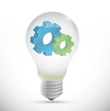 Industry design gears lightbulb Royalty Free Stock Photography