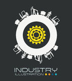 Industry design. Over gray background, vector illustration stock illustration