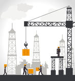 Industry design. Over white background,vector illustration Royalty Free Stock Photography
