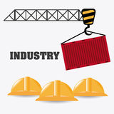 Industry design. Industry design over white background, vector illustration Royalty Free Stock Images