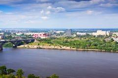 Industry district at Nizhny Novgorod Royalty Free Stock Photography