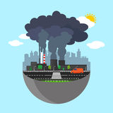 Industry earth concept. Vector illustration for global industrial. Royalty Free Stock Photos