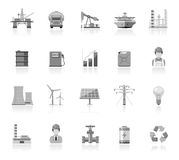 Industry and energy icons Royalty Free Stock Photo
