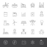 Industry and energy icons Royalty Free Stock Photos