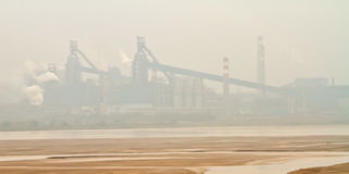 Industry and enrionment pollution Royalty Free Stock Photo