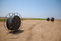 Industry everywhere. Irrigation is being brought to the desert Stock Image