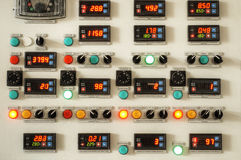 Industry factory control panel Stock Photo