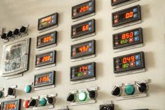Industry factory control panel Royalty Free Stock Photo