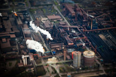 Industry fake tilt shift effect Stock Photo