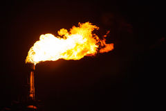 Industry factory fire torch Stock Photography