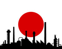 Industry and flag of Japan Stock Images