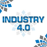 Industry Four Point Zero Blue Grey Elements Square Royalty Free Stock Photo