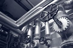 Industry gas and oil pipes Stock Photos