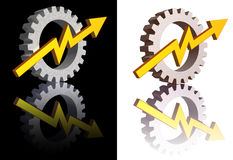 Industry graph Stock Image