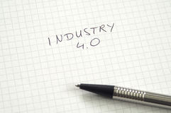 Industry 4.0 in handwriting Stock Images
