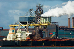 Industry in the harbor Royalty Free Stock Photo