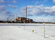 Industry In Helsinki winter Royalty Free Stock Photography