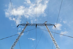 Industry high voltage electricity pylon Stock Images