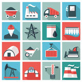 Industry icon set Stock Photography