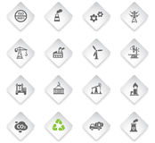 Industry icon set. Industry flat web icons for user interface design Stock Photography