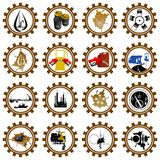 Industry. Icon set oil industry. Illustration on white background Stock Photos