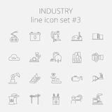 Industry icon set Stock Photos