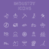 Industry icon set. Royalty Free Stock Images