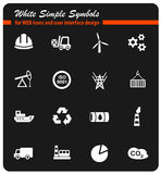 Industry icon set. Industry web icons for user interface design Stock Photos