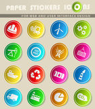 Industry icon set. Industry web icons for user interface design Stock Image
