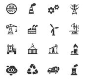 Industry icon set. Industry web icons for user interface design Royalty Free Stock Photos