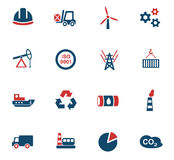 Industry icon set Royalty Free Stock Photo