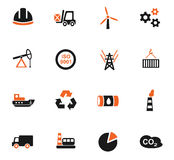 Industry icon set. Industry web icons for user interface design Stock Images