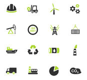Industry icon set. Industry web icons for user interface design Stock Photo