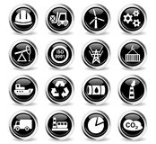 Industry icon set Royalty Free Stock Photos
