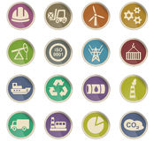Industry icon set. Industry web icons for user interface design Royalty Free Stock Photography