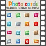 Industry icon set Stock Photos