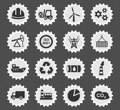 Industry icon set. Industry web icons for user interface design Royalty Free Stock Photo