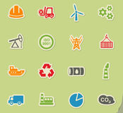 Industry icon set Stock Photo