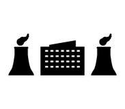 Industry icon. On white background stock illustration
