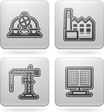 Industry Icons Royalty Free Stock Photos