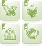 Industry Icons: Agriculture. Farm (agriculture) signs, from left to right, top to bottom Royalty Free Stock Photos