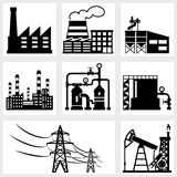 Industry icons Royalty Free Stock Photo