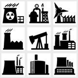 Industry icons Stock Images