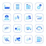 Industry icons - blue series Royalty Free Stock Image