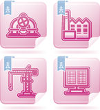 Industry Icons. Industry & Heavy industry symbols, included icons from left to right, top to bottom Stock Photos