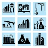 Industry icons, power plant Royalty Free Stock Photography
