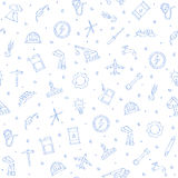 Industry icons set handmade style pattern Stock Photos